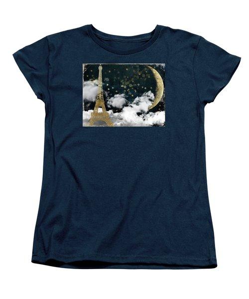 Cloud Cities Paris Women's T-Shirt (Standard Cut) by Mindy Sommers