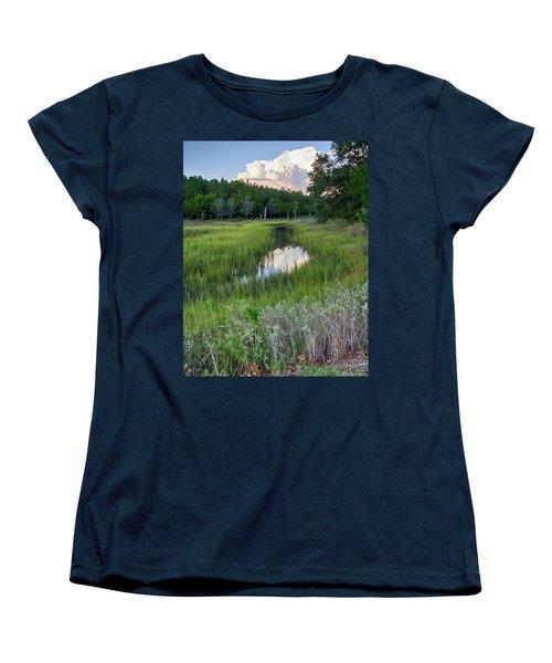 Cloud Over Marsh Women's T-Shirt (Standard Cut) by Patricia Schaefer