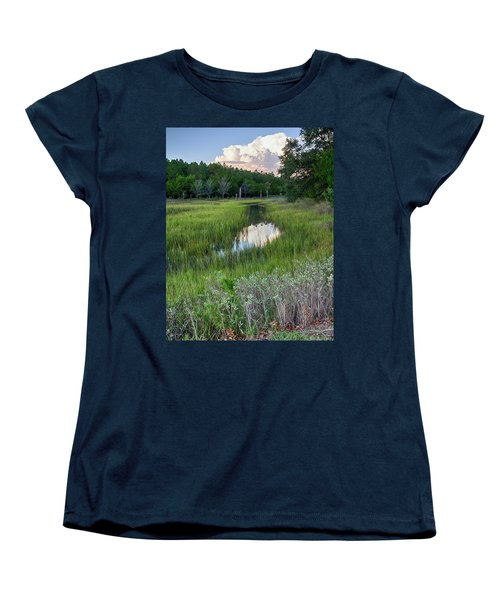 Women's T-Shirt (Standard Cut) featuring the photograph Cloud Over Marsh by Patricia Schaefer