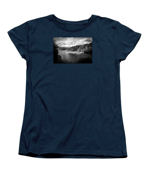 Clouds Above The Nantahala River In Nc Women's T-Shirt (Standard Cut) by Kelly Hazel