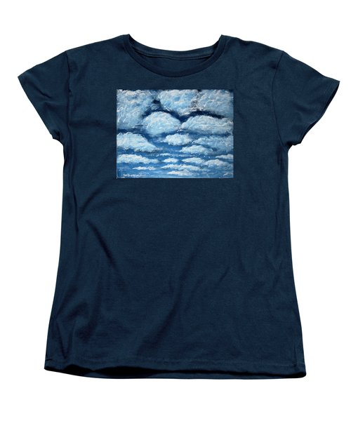 Women's T-Shirt (Standard Cut) featuring the painting Clouds by Antonio Romero