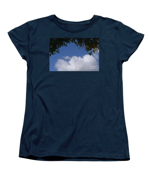Clouds Framed By Tree Women's T-Shirt (Standard Cut)