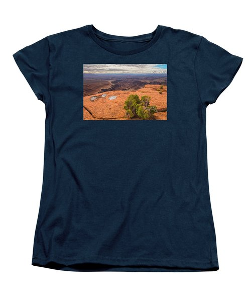 Clouds Junipers And Potholes Women's T-Shirt (Standard Cut) by Angelo Marcialis