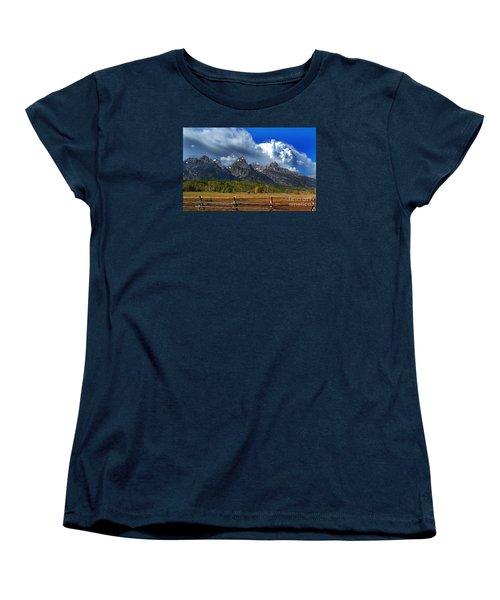 Women's T-Shirt (Standard Cut) featuring the photograph Clouds Rising by Diane E Berry