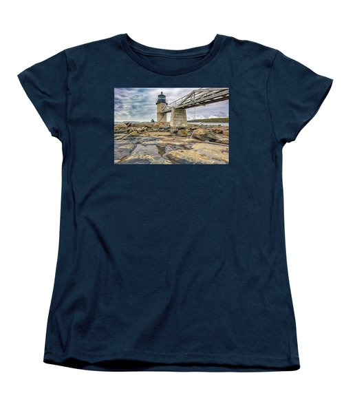 Women's T-Shirt (Standard Cut) featuring the photograph Cloudy Day At Marshall Point by Rick Berk