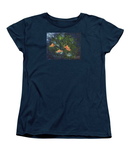 Women's T-Shirt (Standard Cut) featuring the painting Clowning Around by Carol Sweetwood