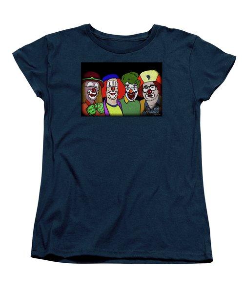 Clowns Women's T-Shirt (Standard Cut) by Megan Dirsa-DuBois