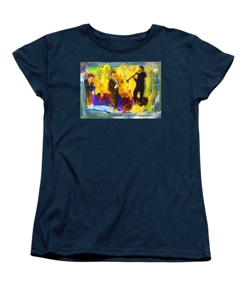 Women's T-Shirt (Standard Cut) featuring the painting Club Cuba by Keith Thue