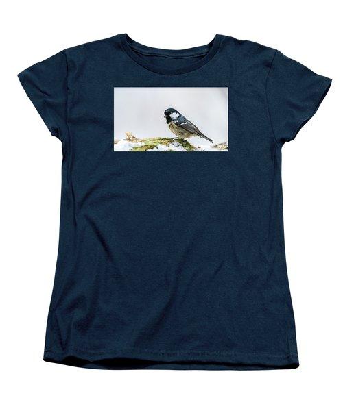 Women's T-Shirt (Standard Cut) featuring the photograph Coal Tit's Profile by Torbjorn Swenelius