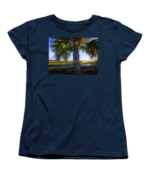 Coastal High Tide  Women's T-Shirt (Standard Cut) by Laura Ragland