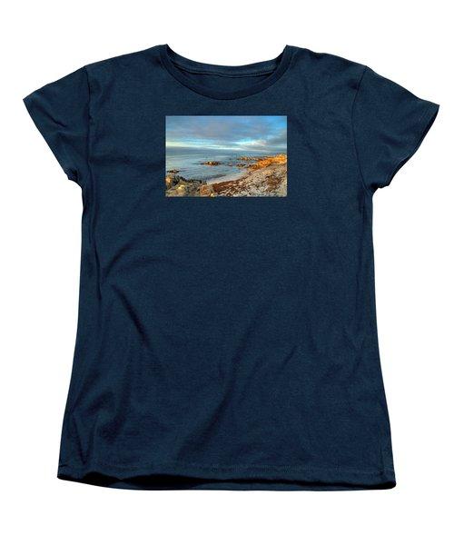 Coastal Sunset Women's T-Shirt (Standard Cut) by Derek Dean