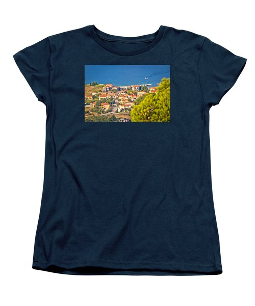 Coastal Village On Island Of Pasman Women's T-Shirt (Standard Cut) by Brch Photography