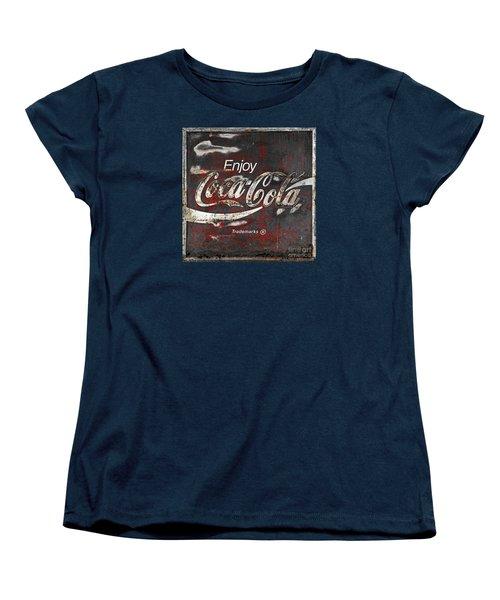 Coca Cola Grunge Sign Women's T-Shirt (Standard Cut)