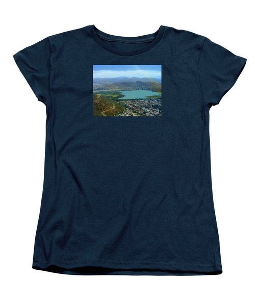 Women's T-Shirt (Standard Cut) featuring the photograph Cochabamba Lake by Lew Davis