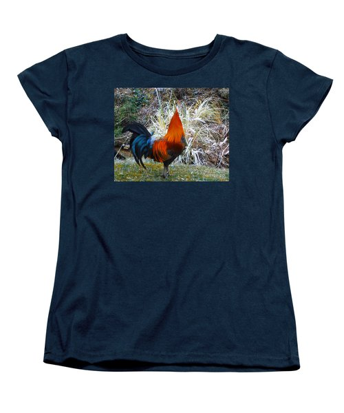Cock Walk II Women's T-Shirt (Standard Cut) by Donna Dixon