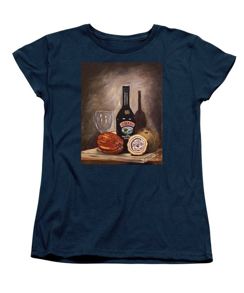 Cocoa Pods Coconut And Irish Cream Women's T-Shirt (Standard Cut) by Laura Forde