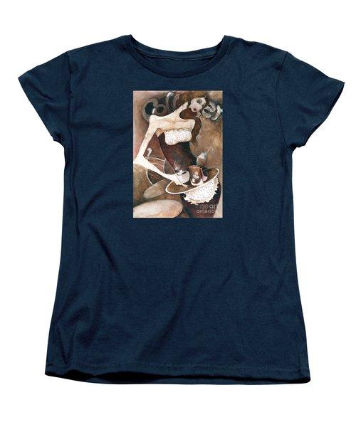 Coffee Shop Women's T-Shirt (Standard Cut) by Maya Manolova