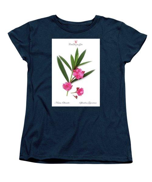Women's T-Shirt (Standard Cut) featuring the photograph Cog  Nerium Oleander Splendens Giganteum by Wilhelm Hufnagl
