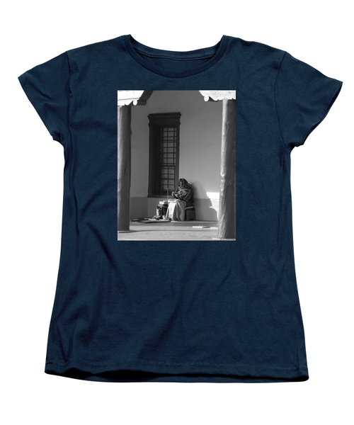 Women's T-Shirt (Standard Cut) featuring the photograph Cold Native American Woman by Rob Hans