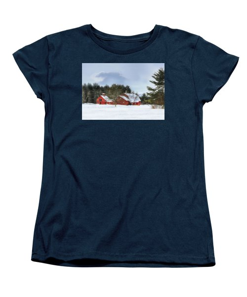 Women's T-Shirt (Standard Cut) featuring the digital art Cold Winter Days In Vermont by Sharon Batdorf