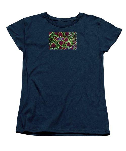 Coleus Leaves Women's T-Shirt (Standard Cut) by Nareeta Martin