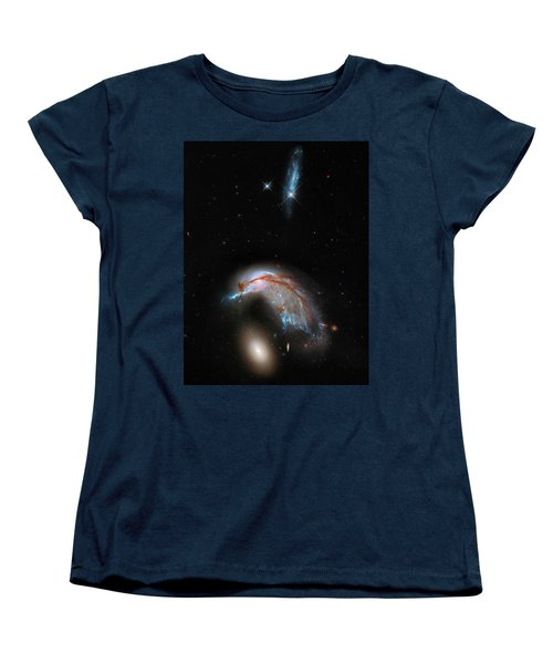 Women's T-Shirt (Standard Cut) featuring the photograph Colliding Galaxy by Marco Oliveira