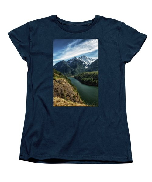 Colonial Peak Towers Over Diablo Lake Women's T-Shirt (Standard Cut)