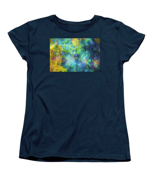 Color Abstraction Xliv Women's T-Shirt (Standard Cut) by David Gordon