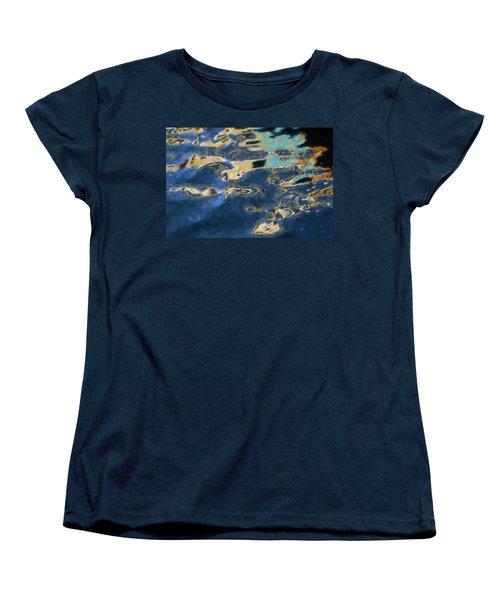 Color Abstraction Xxxvii - Painterly Women's T-Shirt (Standard Cut) by David Gordon