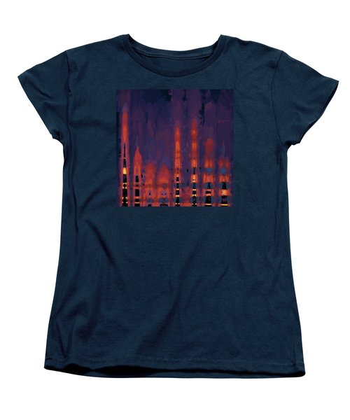 Women's T-Shirt (Standard Cut) featuring the digital art Color Abstraction Xxxviii by Dave Gordon