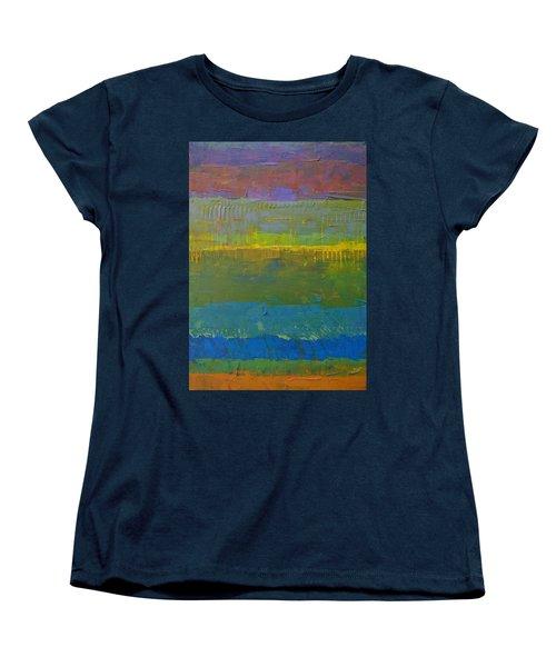Color Collage Five Women's T-Shirt (Standard Cut) by Michelle Calkins