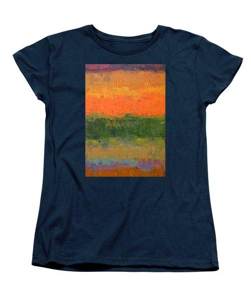 Color Collage Four Women's T-Shirt (Standard Cut) by Michelle Calkins