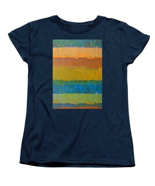 Color Collage Three Women's T-Shirt (Standard Cut) by Michelle Calkins