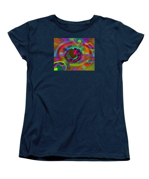 Women's T-Shirt (Standard Cut) featuring the digital art Color Dome by Lynda Lehmann