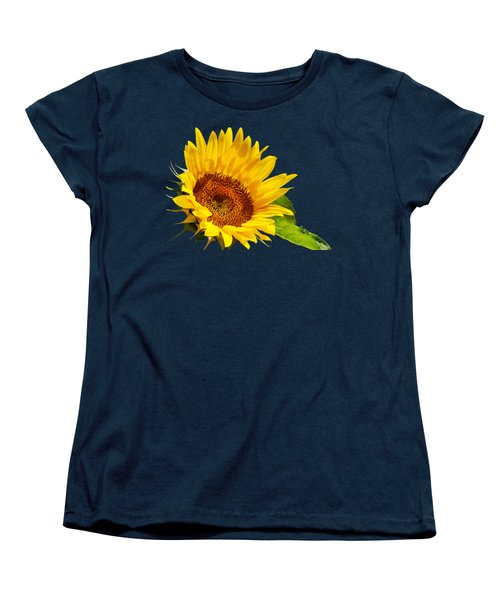 Color Me Happy Sunflower Women's T-Shirt (Standard Cut) by Christina Rollo