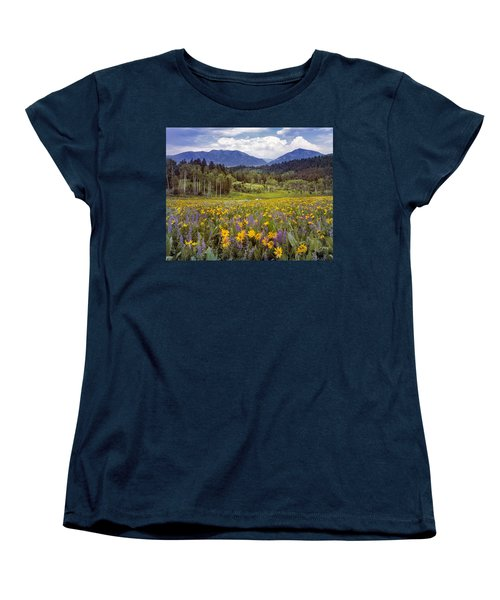 Color Of Spring Women's T-Shirt (Standard Cut) by Leland D Howard