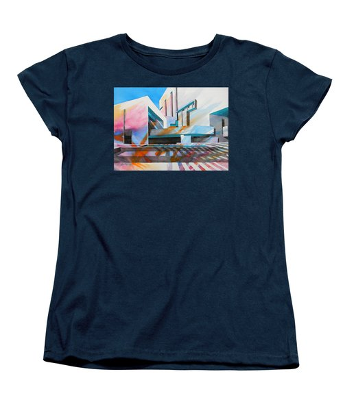 Women's T-Shirt (Standard Cut) featuring the painting Color Simphony by J- J- Espinoza
