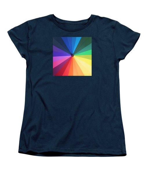 Color Wheel Women's T-Shirt (Standard Cut) by Denise Fulmer