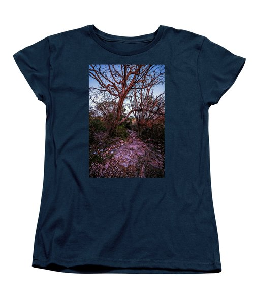 Colorado Bend State Park Gorman Falls Trail #3 Women's T-Shirt (Standard Cut) by Micah Goff