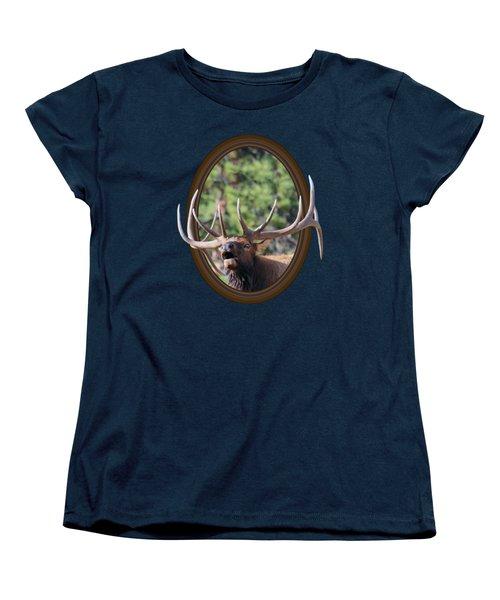 Women's T-Shirt (Standard Cut) featuring the photograph Colorado Bull Elk by Shane Bechler