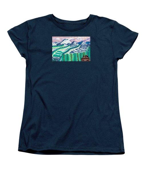 Colorado Cabin Women's T-Shirt (Standard Cut) by Don Koester