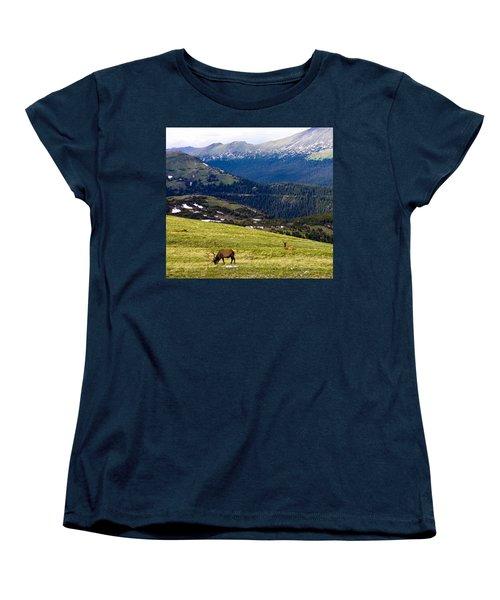 Colorado Elk Women's T-Shirt (Standard Cut) by Marilyn Hunt