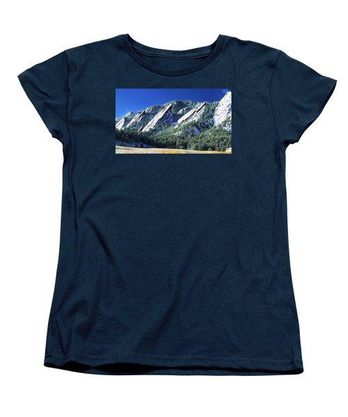 All Fivecolorado Flatirons Women's T-Shirt (Standard Cut) by Marilyn Hunt