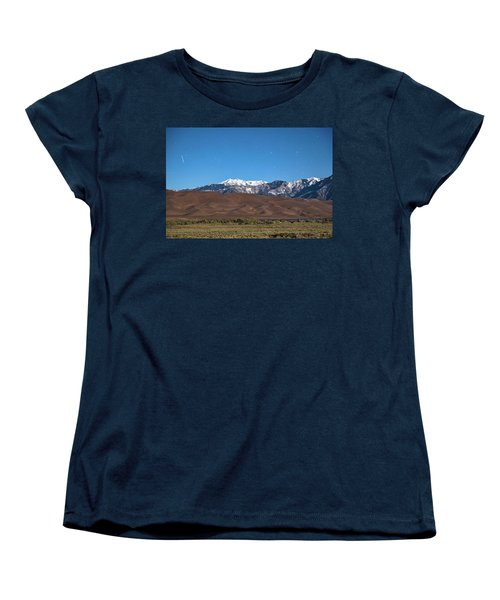 Colorado Great Sand Dunes With Falling Star Women's T-Shirt (Standard Cut) by James BO Insogna