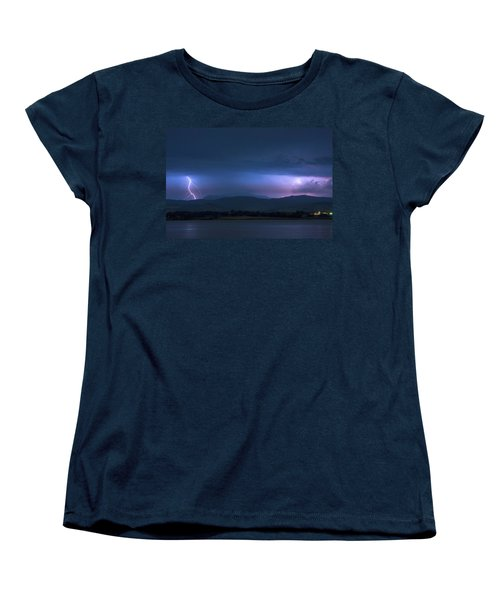 Women's T-Shirt (Standard Cut) featuring the photograph Colorado Rocky Mountain Foothills Storm by James BO Insogna