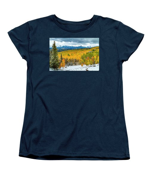Colorado Valley Of Autumn Color Women's T-Shirt (Standard Cut) by Teri Virbickis