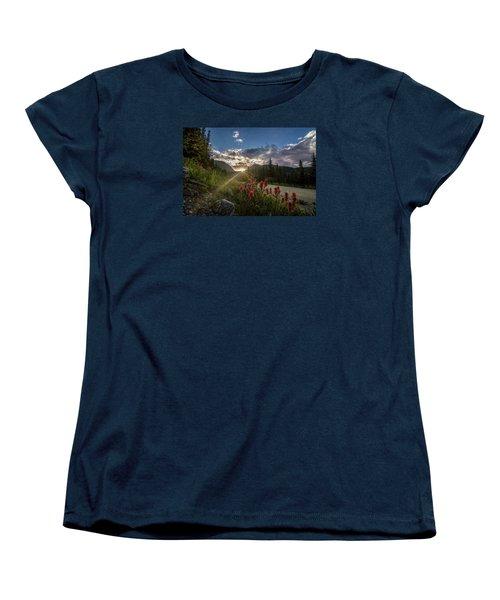 Colorado Wildflowers Under Evening Sun Women's T-Shirt (Standard Cut) by Michael J Bauer