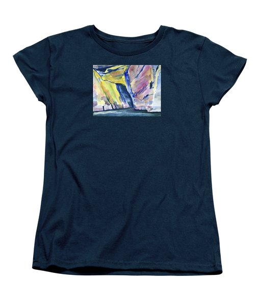 Colorful Cliffs And Cave Women's T-Shirt (Standard Cut)