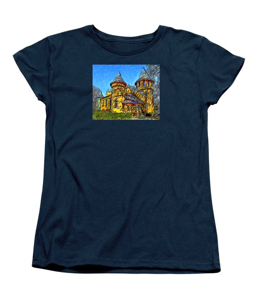 Colorful Curwood Castle Women's T-Shirt (Standard Cut) by Bruce Nutting