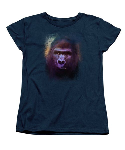 Colorful Expressions Gorilla Women's T-Shirt (Standard Cut) by Jai Johnson